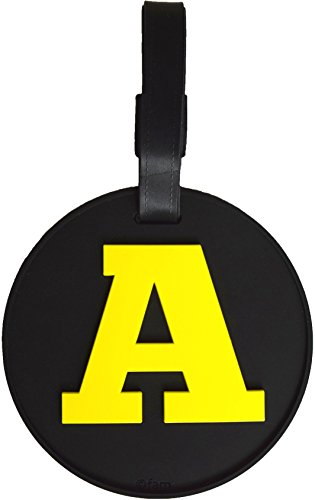 (Luggage Tag Initial Letter Bag Tag Alphabet 3-D Personalized Reinforced Bendable Heavy Duty ID Tag W/Identity Protection (A (yellow)))