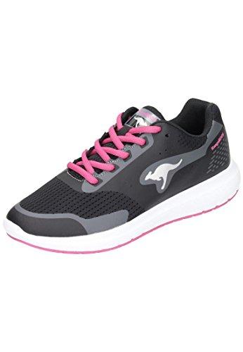 Schwarz Sneaker Damen Start Magenta Black W KangaROOS 565 One SOXAUUn