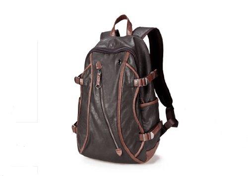 ZeleToile Mochila casual Schoolbag Mochila escolar para colegio Bolsa al hombro Bolsa para PC Tableta portátil de 15 pulgadas (café)