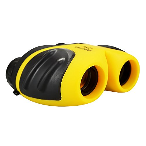 Friday Presents Christmas Popular Gifts Stocking Stuffer for 3-8 Year Old Boys Girls, Best Compact Binoculars for Bird Watching Top Christmas Best Toys for Boys Age 3-12 Halloween Yellow FDUSBB03