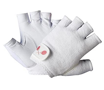 Tourna Women Youth Half Finger Tennis Glove Sheepskin Leather Right Hand Medium Handschuhe