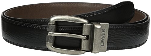 Levi's Men's Big & Tall Feathered Reversible Belt (Extended Size),Black/Brown,54 (Big Tall Belt)