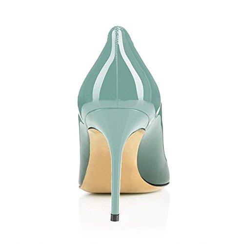 Alto Pan de tacón Zapatos Emerald 85MM Aguja tacón con Caitlin tacón Alto Sexy Zapatos Vestir Cordones de para Mujeres Suela Mujer de Roja de con XCHxnwdq