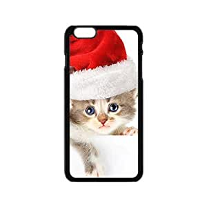 Adorable Santa Cat Kitten Phone Case for Iphone 6