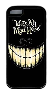 MMZ DIY PHONE CASEiphone 4/4s Case and Cover - We're All Mad Here TPU Rubber Silicone Case for iphone 4/4s Black