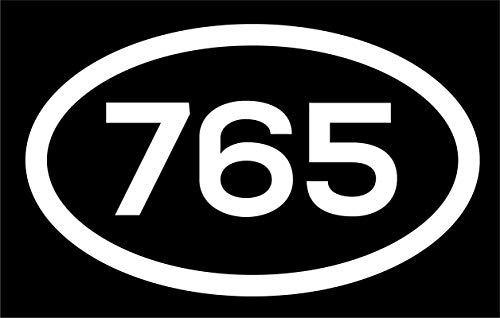 DHDM 765 Area Code Sticker Indiana Muncie Anderson Kokomo City Pride Love | 5-Inches by 3-Inches | Premium Quality White Vinyl | ND571]()