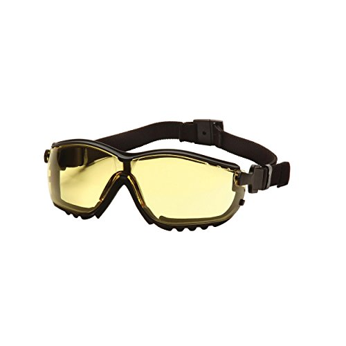 (12 Pair) Pyramex V2G Glasses Black Frame/Amber Anti-Fog Lens (GB1830ST) from Pyramex Safety