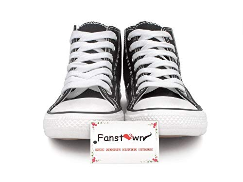 Fanstown Kpop NCT Sneakers Canvas Shoes NCT U NCT 127 NCT Dream Sneakers Shoes Round tag Star high-Heels red Shoes
