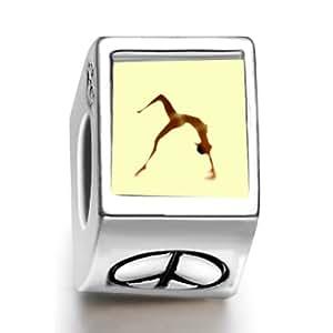 London 2012 Olympics hembra gimnasta realizar en cada patrióticamente ph de ajuste de cuentas encanto europeo Pandora Chamilia Biagi pulsera de cuentas encanto