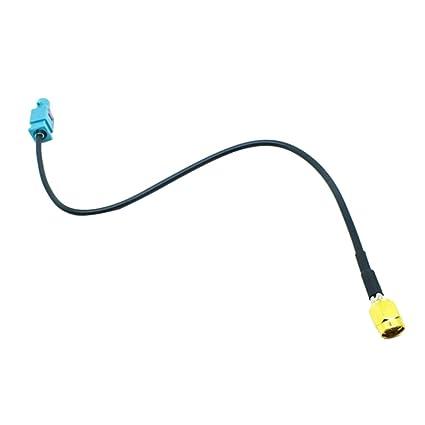MagiDeal Enchufe de Radio Coche Fakra Z Estéreo para gsm GPS Dab Adaptador Antena Aérea Ra