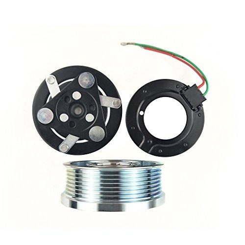 Ac Clutch 12v - Wisepick AC Compressor Clutch Magnetic Assembly for Sanden TRSE07 TRSE09 Honda Civic CRV 7PK 12V