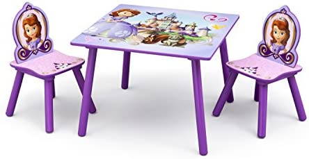 Delta Kids - Mesa Infantil (Madera, 60 x 60 cm, con 2 sillas ...