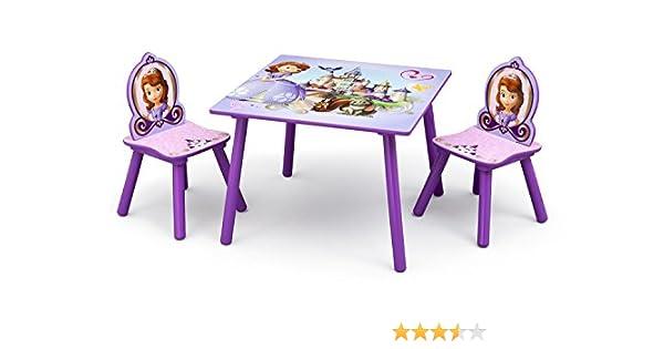 Mesa Infantil Delta Kids Madera, 60 x 60 cm, con 2 sillas Sofia The First