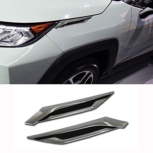Beautost Fit For Toyota New RAV4 2019 Headlight Molding Trim Front Side Fender Cover Trims
