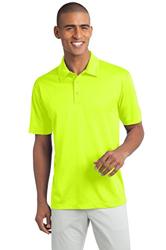 (Port Authority Men's Silk Touch Performance Polo L Neon Yellow)