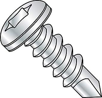Pan Head Pack of 3000 1//4-14 Thread Size Steel Self-Drilling Screw Zinc Plated Finish Small Parts 1408KPP 1//4-14 Thread Size 1//2 Length Pack of 3000 1//2 Length #2 Drill Point Phillips Drive