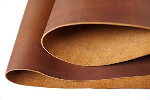 Bourbon Brown Tooling Leather Square 2.0mm Thick Finished Full Grain Cow Hide Leather Crafts Tooling Sewing Hobby Workshop Crafting Leather Accessories- QYHQ