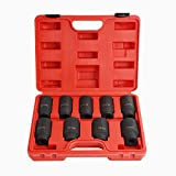 "9PCS Deep Impact Socket Set 1/2"" Drive Metric"