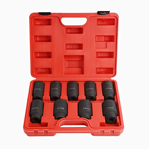 9PCS Deep Impact Socket Set 1/2
