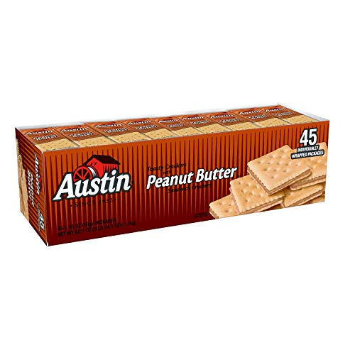 Austin, Sandwich Crackers, Toasty Crackers with Peanut Butter, 62.1 oz (45 Packs)