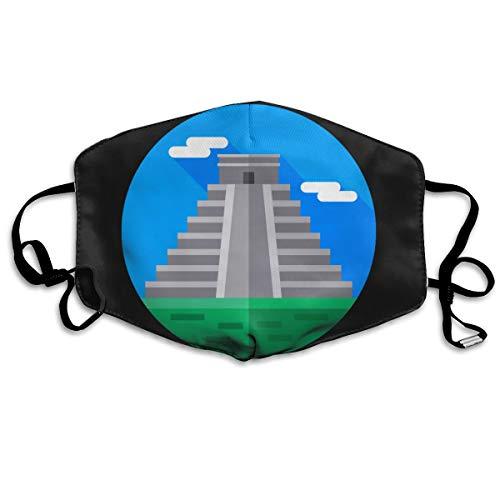 SDQQ6 Mayan-Pyramid Mouth Mask Unisex Printed Fashion Face Mask Anti-dust Masks -