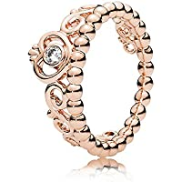Pandora My Princess Tiara Ring, Pandora Rose, Clear CZ, 7 US, 180880CZ-54
