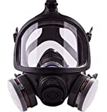 SCK Full Face Respirator Gas Mask Professional Organic Vapor Respirator Widely Used in Paint, Dust, Chemical, Formaldehyde, Pesticides Protections