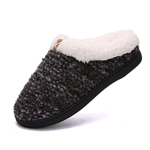 Pictures of Women's Comfort Memory Foam Slippers Plush 8