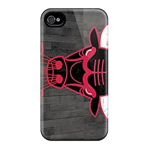 Scratch Protection Hard Cell-phone Case For Iphone 4/4s With Allow Personal Design Beautiful Chicago Bulls Skin LisaSwinburnson