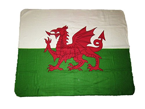 AES Wales Welsh UK 50x60 Polar Fleece Blanket Throw