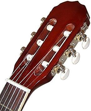 Santander 4/4 – Guitarra acústica (con funda Cejilla correa Set ...