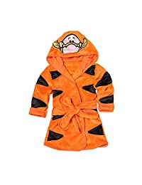 God Sweet Baby Boys Girls Toddle Winter Flannel Hooded Pajamas Sleep Robe Bathrobe