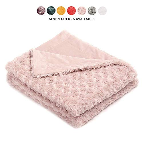 Simple&Opulence Super Soft Microfiber Stereo Rose Pattern Home Furnishing Throw Blanket 50