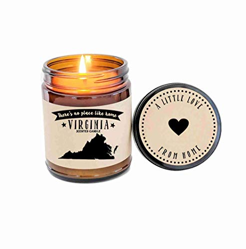 - Virginia Scented Candle State Candle Homesick Gift No Place Like Home Thinking of You Holiday Gift