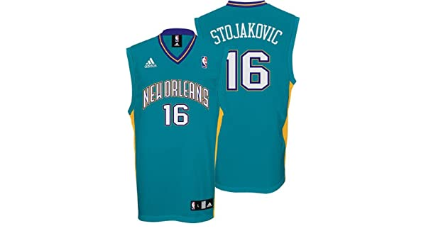 84826e3be Amazon.com   Peja Stojakovic Jersey  adidas Teal Replica  16 New Orleans  Hornets Jersey - X-Large   Athletic Jerseys   Sports   Outdoors