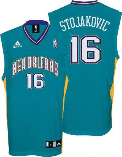 6afe55563 Peja Stojakovic Jersey  adidas Teal Replica  16 New Orleans Hornets Jersey  - X-