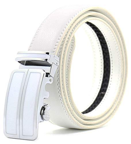 Designer Buckle (ITIEZY Men's Leather Ratchet Belt Automatic Sliding Buckle Designer Belt For Men)
