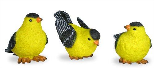 "Goldfinch Bird Figurines Set of 3 Styles, 4"" H"