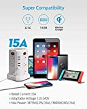 Surge Protector Tower Wireless Charger, SUPERDANNY