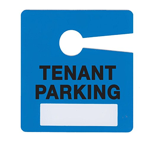 Tenant Parking Permit Pass Stock Hang Tags for Landlords, Commercial Office Buildings, Car Lots, Apartments, by Milcoast,10 Pack (Blue)