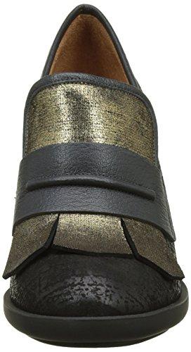 Chie Mihara Mya, Mocassini Donna Nero (Rag Noir-ginza Oro Rag Negro-ginza Oro)