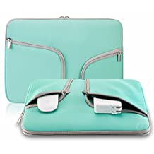 "TaoFilm Pro Neoprene Soft Sleeve Bag Cover Case [ Zipper Briefcase ,Handbag, With TaoFilm Pro Packing ] for MacBook 12 inch & MacBook Air 11.6"" & Universal Laptop Netbook 12"" (Teal)"