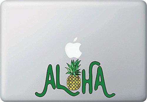 Aloha Pineapple Text Laptop Trackpad Decal Vinyl Sticker Car Bumper Window Decor