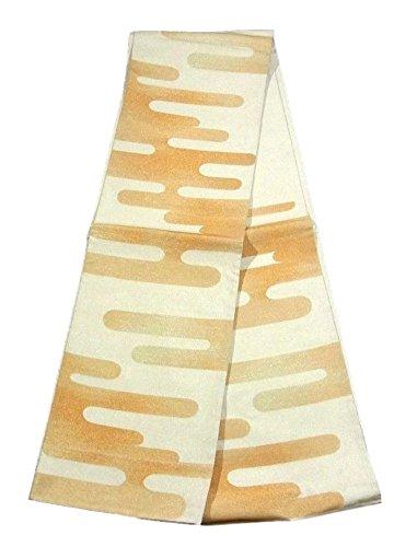 鍔海峡ひも長さリサイクル 袋帯  ヱ霞文 箔糸 正絹 六通