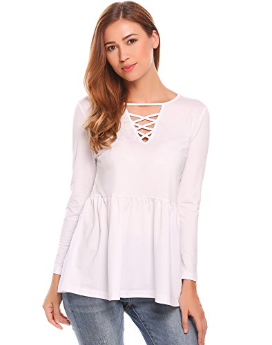 Long Sleeve Baby Doll Top - 6