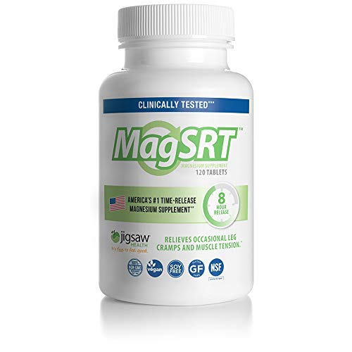 MagSRT Magnesium Malate Supplement (Jigsaw Magnesium w/SRT) - Premium, Organic, Slow Release Magnesium Tablets - Easy to Swallow - 120 ct (Side Effects Of Calcium Carbonate With Vitamin D)