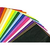 "100 Sheets of Mixed Coloured Acid Free Tissue Paper 20"" x 30"""