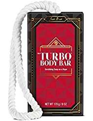 JACK BLACK - Turbo Body Bar Scrubbing Soap - Limited Edition Soap-on-a-Rope, 6oz.