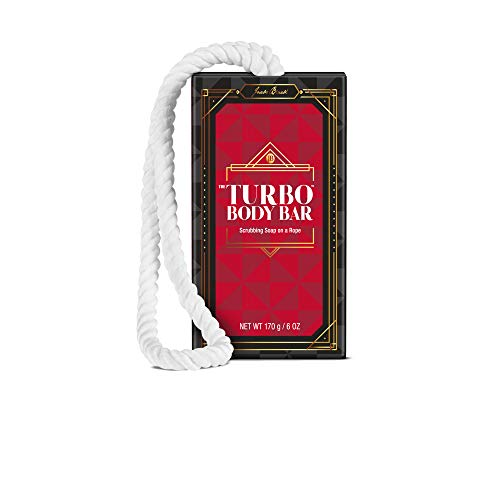 JACK BLACK - Turbo Body Bar Scrubbing Soap - Limited Edition Soap-on-a-Rope, 6oz. (Conditioning Shave Lube Beard)