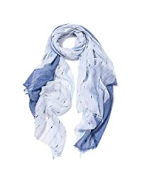 Kalevel Soft Shawls and Wraps Polyester Lightweight Scarfs Oversized Long Shawl Scarf Warm Cape Spring Summer Wraps Sun Protection Scarf for Women Girls 35.4in x 78.7in (Blue)